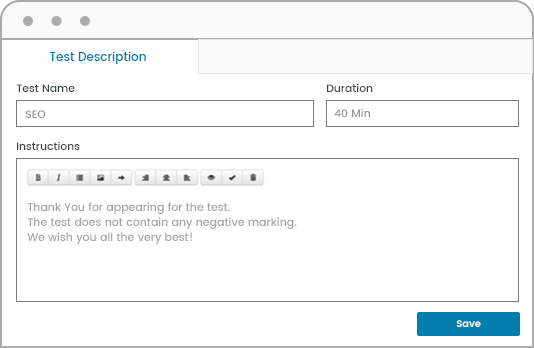 Write Your Own Test Description